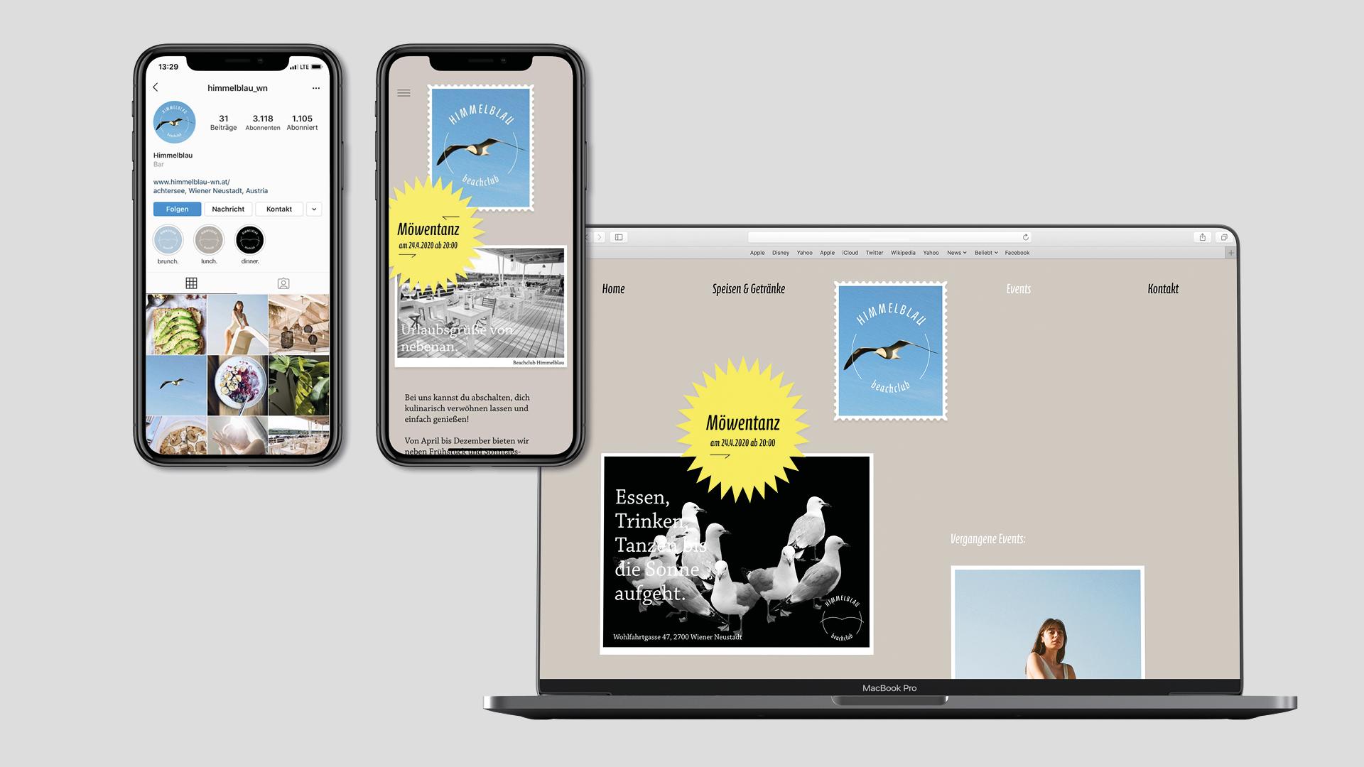 2 Stella Butz Himmelblau Beachclub Webdesign